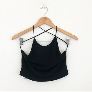Misguided open back crop top